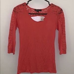 Tops - Coral Lace Shirt